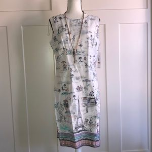 NWT PARIS WHITE SUMMER DRESS 12